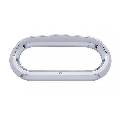 Oval Light Plastic Bezels with Visor for Grommet Mounted Lights - Set of 10