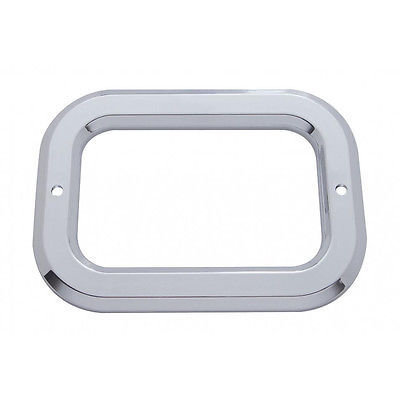 Rectangular Light Plastic Bezels w/o Visor for Grommet Mounted Lights - Set of 2