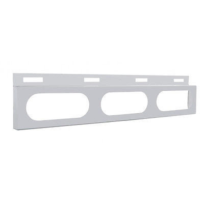 Top Mud Flap Bracket with 3 Oval Light Cutouts, Stainless Steel, for Semi Trucks