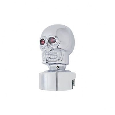 Skull Head 13/15/18 Speed Gearshift Knob, Chrome