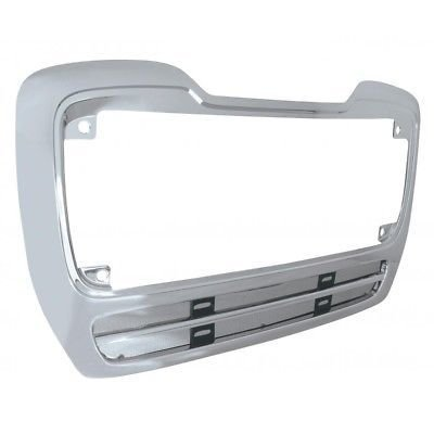 Grille Frame Surround with Vent Bug Screen, Chrome for Freightliner M2