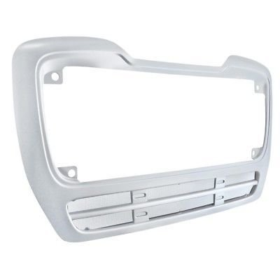 Grille Frame Surround with Vent Bug Screen, Silver for Freightliner M2