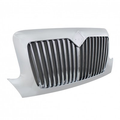 Chrome Grille w/ Bug Screen for 2002+ International DuraStar and WorkStar
