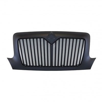 Grille w/ Bug Screen and Logo Cutout - Black for International DuraStar and WorkStar