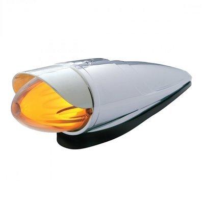 9 LED Dual Watermelon Grakon 1000 Cab Light Kit w/ Visor - Amber LED/Clear Lens