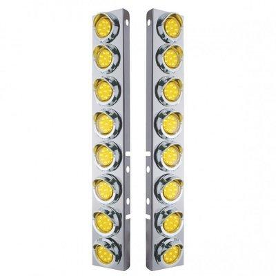 Peterbilt Air Cleaner Bracket Reflector Lights & Visors - Amber LED/Amber Lens