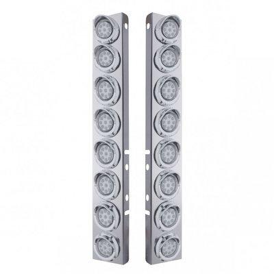 Peterbilt Air Cleaner Bracket Reflector Lights & Visors - Amber LED/Clear Lens