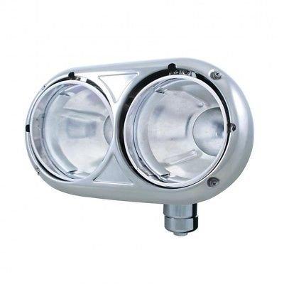 Dual Headlight Housing, 304 Stainless Steel - Passenger Side for Peterbilt 359