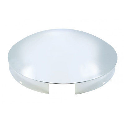 Front 4 Even Notch Dome, Chrome, 1