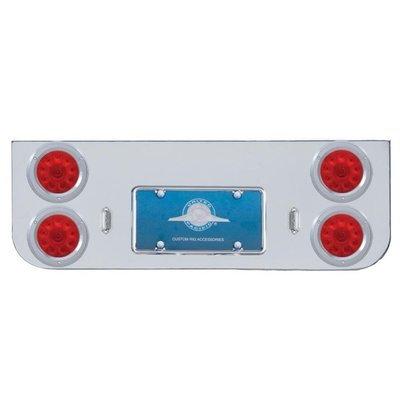 Chrome Rear Center Panel w/ Four 10 LED 4