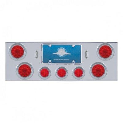Chrome Rear Center Panel w/ 13 LED 2 1/2