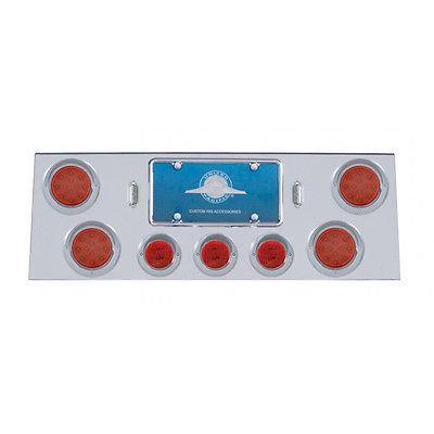 Rear Panel 4 Flat Red LED, 12 Diode, & 3 Flat Red LED Lights & Visors - Red Lens