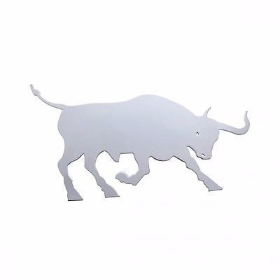 Raging Bull Cutout for Mud Flap Hangers, Stainless Steel - Facing Right