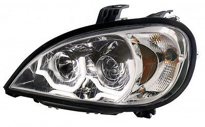 Projection LED Headlight, Chrome - Driver Side for Freightliner Columbia 1996+