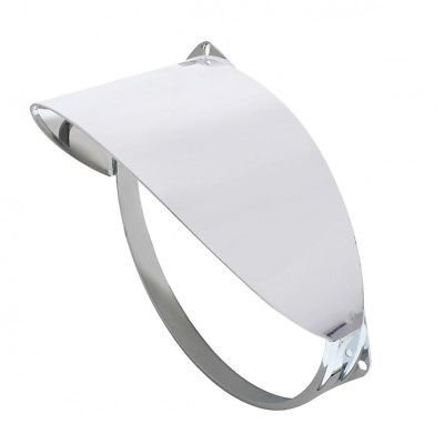 Guide Headlight Visor, Polished 430 Stainless Steel