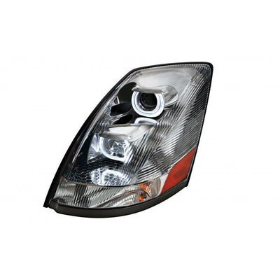 Projection LED Headlight, Crystal - Driver Side for Volvo VN / VNL 2004+