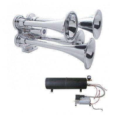 Mini Train Horn w/ Heavy Duty Air Compressor and 5.5 Liter Air Tank