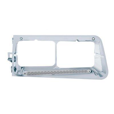 19 LED Headlight Bezel (Passenger) - Amber LED/Clear Lens for Freightliner FLD