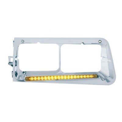 19 LED Headlight Bezel (Passenger) - Amber LED/Amber Lens for Freightliner FLD