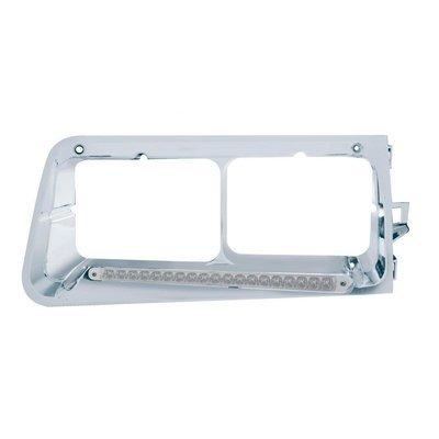 19 LED Headlight Bezel (Driver) - Amber LED/Clear Lens for Freightliner FLD
