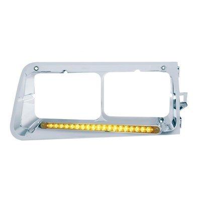 19 LED Headlight Bezel (Driver) - Amber LED/Amber Lens for Freightliner FLD