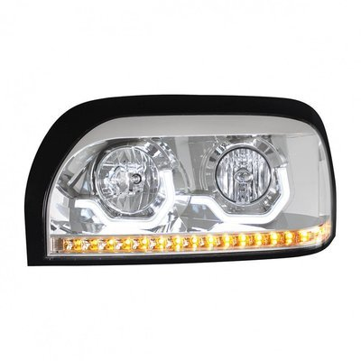 Projection LED Chrome Headlight for Freightliner Century