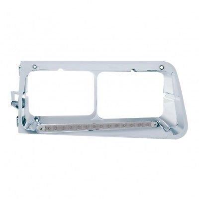 Headlight Bezel, 14 Amber LED/Clear Lens - Driver Side for Freightliner FLD