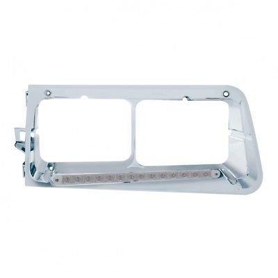 Headlight Bezel, 14 Amber LED/Clear Lens - Passenger Side for Freightliner FLD