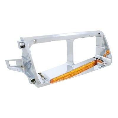 Headlight Bezel, 14 Amber LED/Amber Lens - Passenger Side for Freightliner FLD