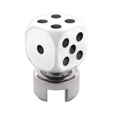 White Dice 13/15/18 Speed Gearshift Knob w/ Adapter