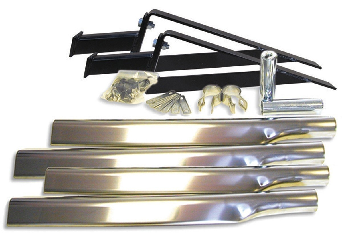 Full Fender Stainless Steel Mounting Kit with Smooth Hole in Post Mount Tubes