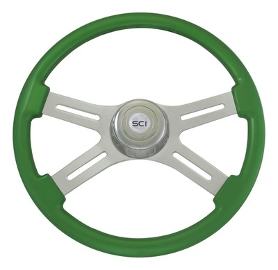 18 Inch Wood Classic Green Steering Wheel