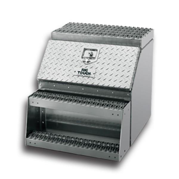 24' Rugged Aluminum Step Tool Box