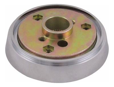 Steering Wheel Hub Kit Economy 3 Hole Chrome for Kenworth/Peterbilt/Western Star