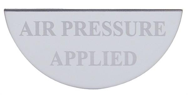 Freightliner Gauge Plate Emblem - Air Pressure Applied