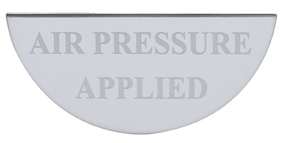 Gauge Plate Emblem - Air Pressure Applied for Freightliner