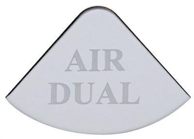 Gauge Plate Emblem - Air Dual for Freightliner