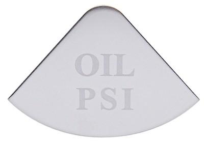 Gauge Plate Emblem - Oil PSI for Freightliner