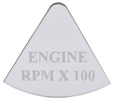 Gauge Plate Emblem - Engine RPM x 100 for Freightliner