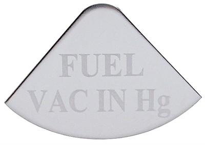 Gauge Plate Emblem - Fuel Vac in Hg for Freightliner
