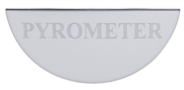 Gauge Plate Emblem - Pyrometer (Small) for Freightliner