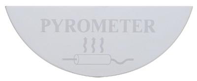 Gauge Plate Emblem - Pyrometer (Large) for Freightliner