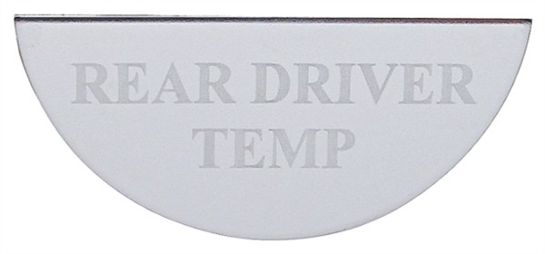 Freightliner Gauge Plate Emblem - Rear Driver Temperature