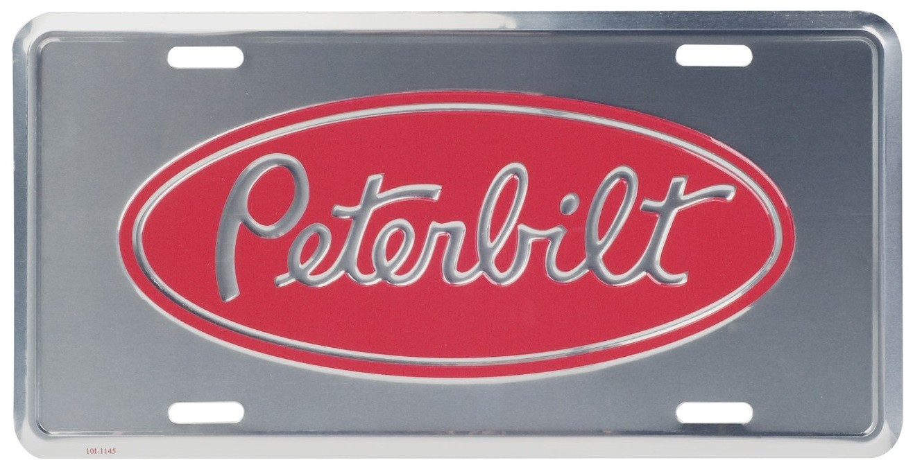 Deluxe License Plate for Peterbilt