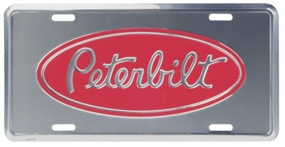 Deluxe License Plate for Peterbilt