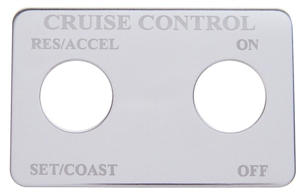 Freightliner Stainless Steel Cruise Control 2 Switch Plate