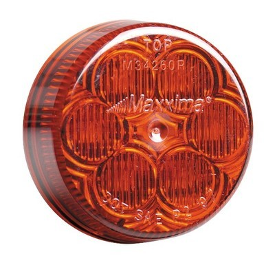 2 Inch Round Red Clearance Marker with Red or Clear Lens