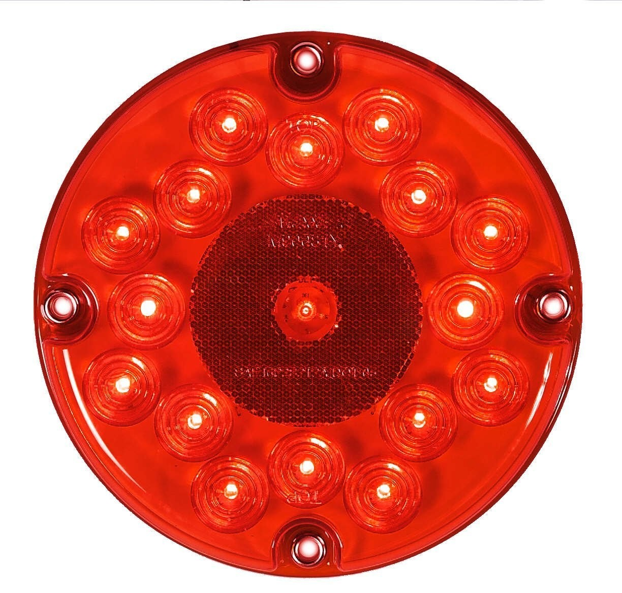 7 Inch Round Red Stop/Tail/Turn Bus Light