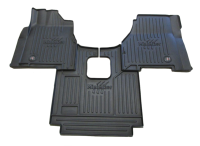 Heavy Duty Floor Mat Kit for Freightliner Coronado CC122 & CC132 (2010-2016); 122SD (2013-2016) (manual trans.)