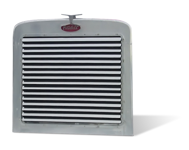 Peterbilt 379 Extended Hood Grill With16 Louver-Style Bars Horizontal